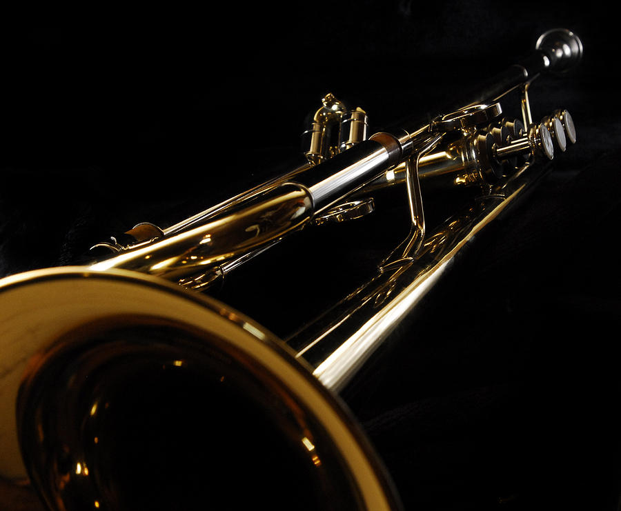 Trumpet In Perspective Photograph by Pictorico