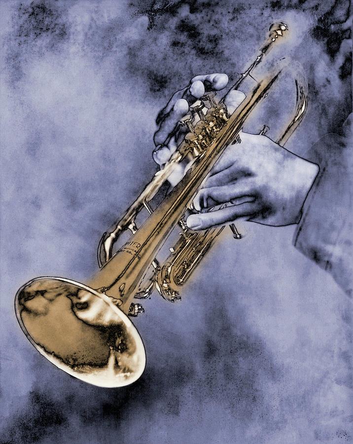 Trumpet Player Digital Art by Nick White