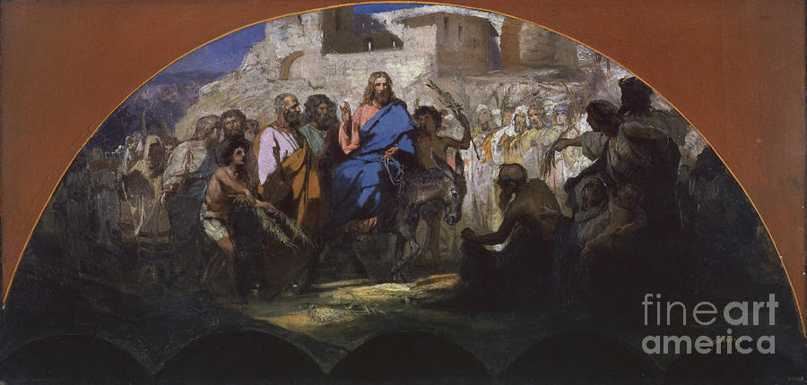 Try Of Christ Into Jerusalem, 1876 Drawing by Heritage Images
