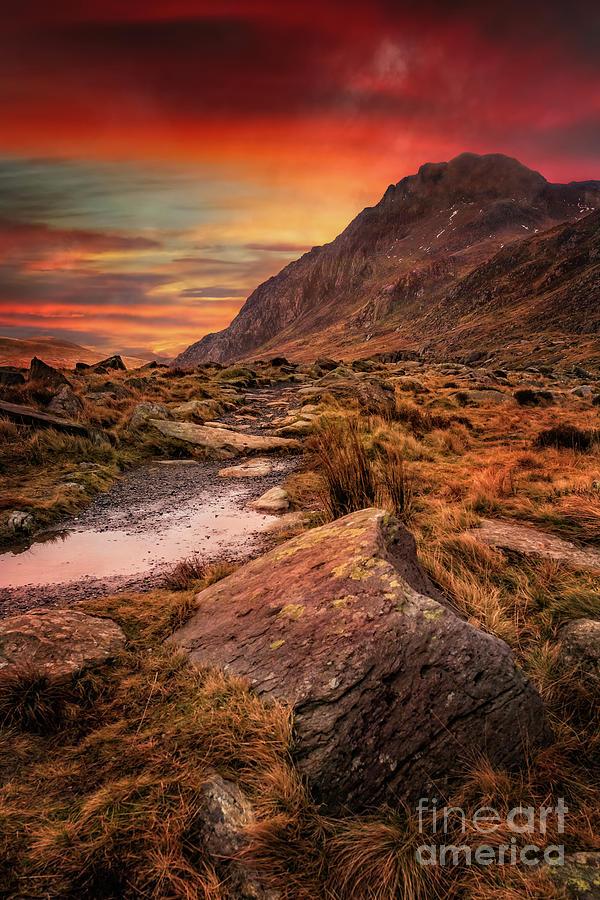 Tryfan Mountain Sunrise by Adrian Evans