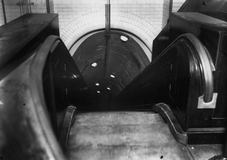 Tube Escalator Photograph by Topical Press Agency