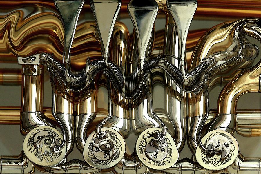 Tuba Photograph - Tubes And Valves by Carel Schmidlkofer