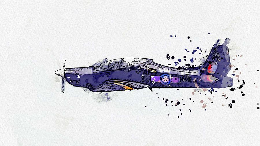 Tucano 2 watercolor by Ahmet Asar by Celestial Images