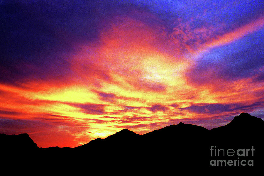 TUCSON MOUNTAIN SUNSET by Douglas Taylor