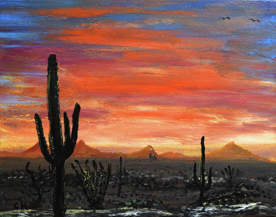 Tucson Mountains at Sunset by Chance Kafka