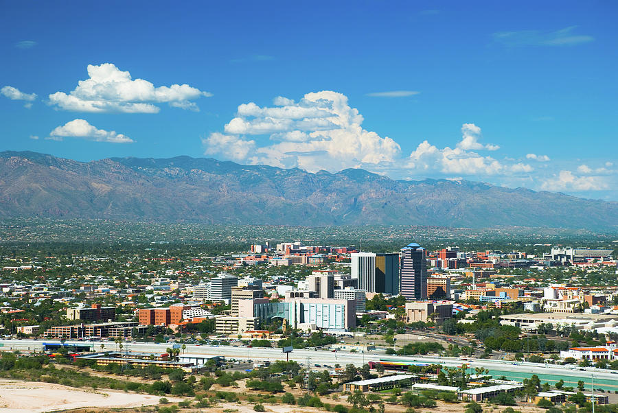 Tucson Skyline, Mountains, And Clouds Photograph by Davel5957