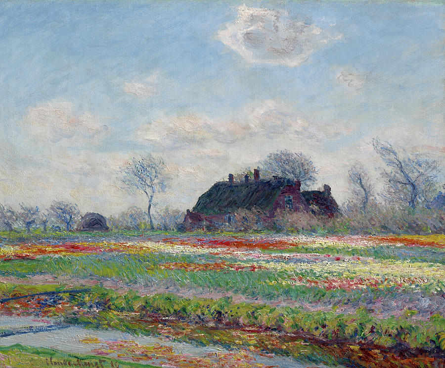 Claude Monets Tulip Field in Sassenheim Print Design Gym Bag