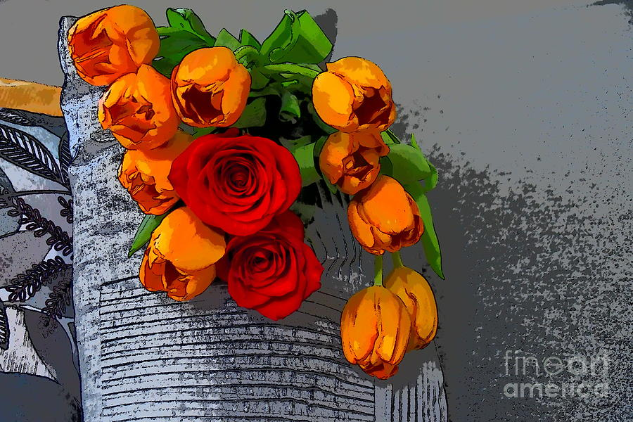 Tulips and Roses by Diana Mary Sharpton