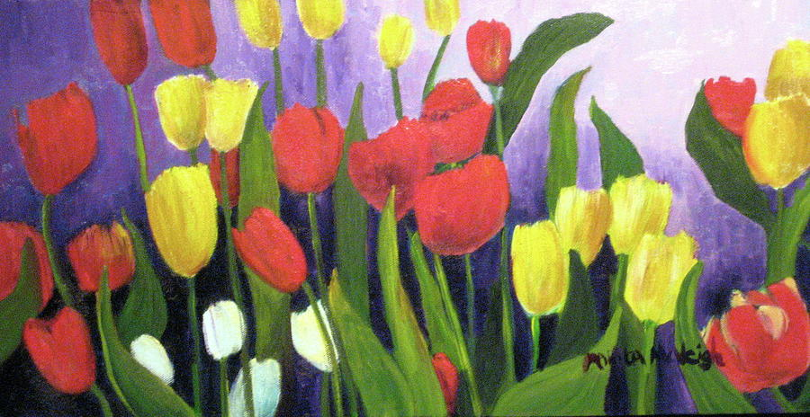 Tulips Painting - Tulips by Marita McVeigh