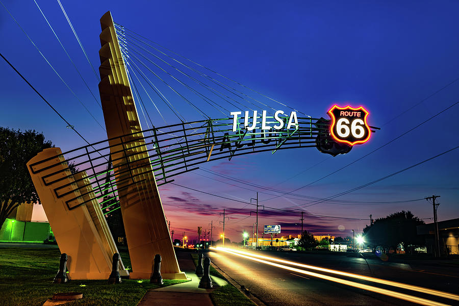 Tulsa Oklahoma Route 66 Western Gateway Arch Photograph