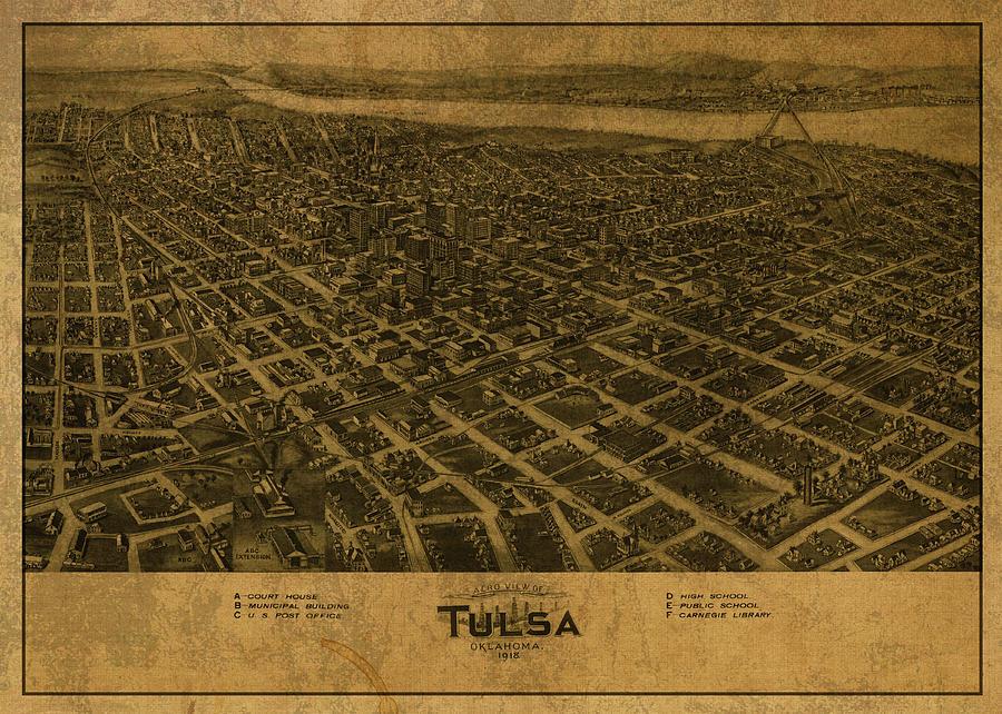 Old Tulsa Photo, Vintage Tulsa OK Pic Aerial Tulsa Photo Vintage Tulsa Print
