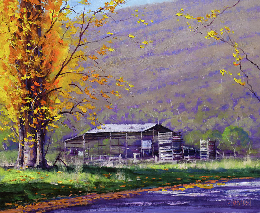 Tumut Valley Farm Shed Painting