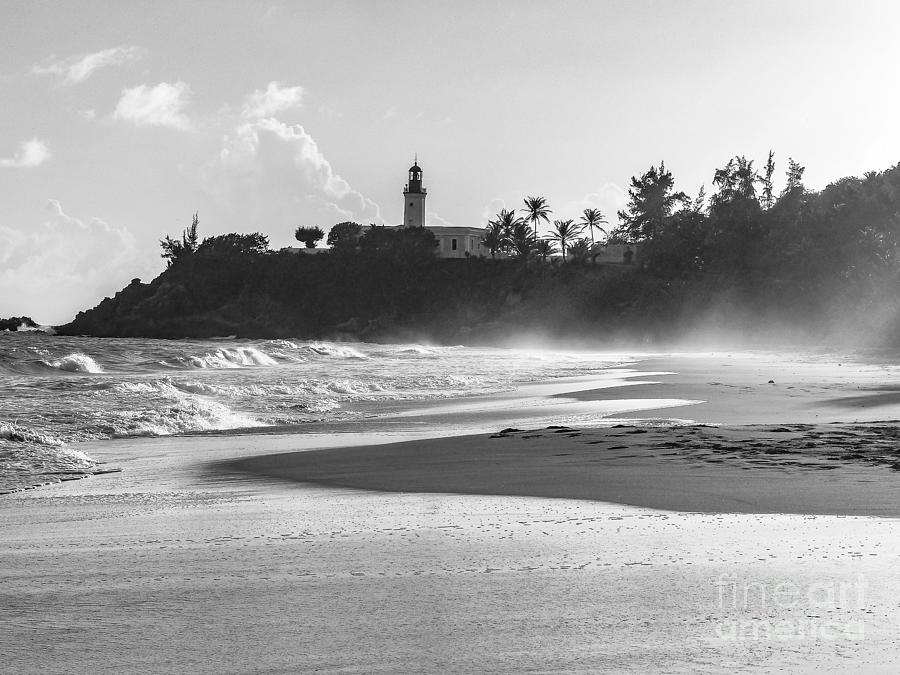 Lighthouse Photograph - Tuna Punta Lighthouse Black and White by G Matthew Laughton