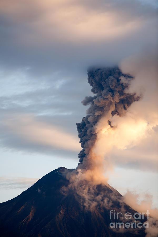 Altitude Photograph - Tungurahua Volcano Eruption 06 12 2010 by Ammit Jack