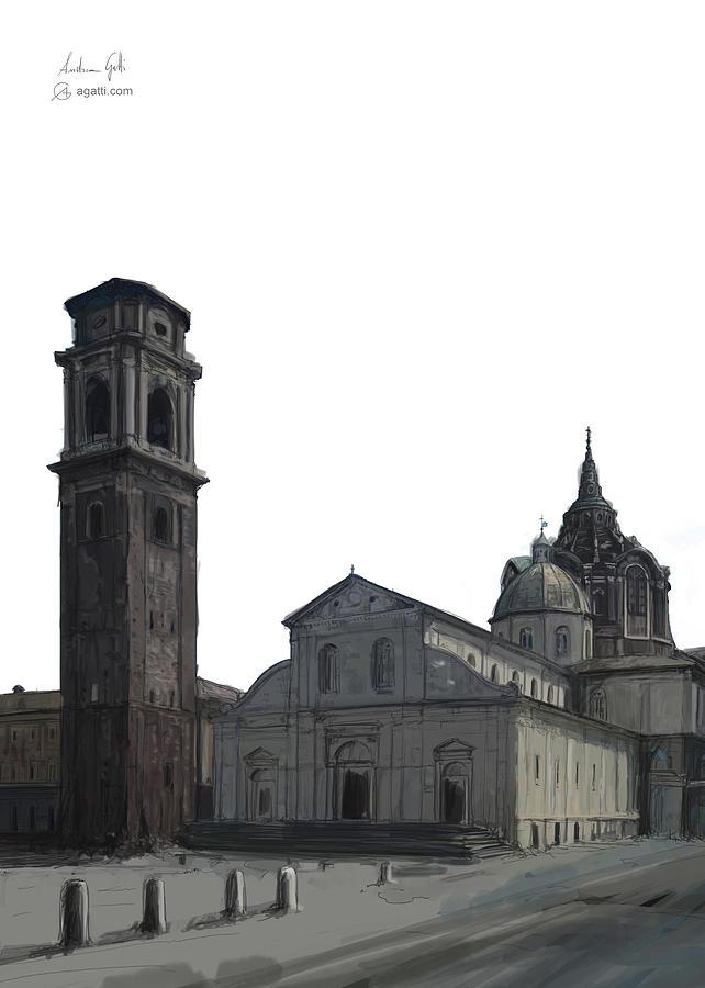 Turin Cathedral Digital1 Digital Art