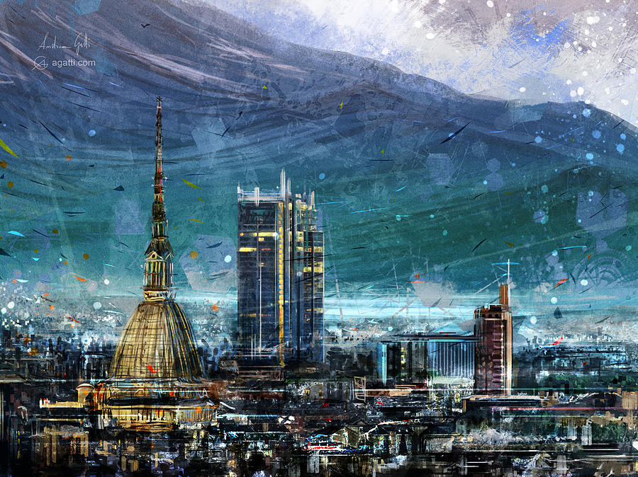 Turin Cityscape Digital Art
