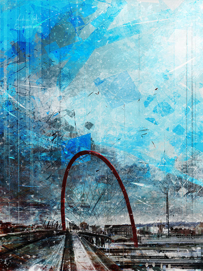 Turin Olympic Arch Digital Art