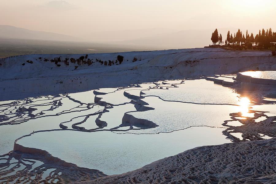 Scenic Photograph - Turkey, Aegean Region, Pamukkale by Gardel Bertrand / Hemis.fr