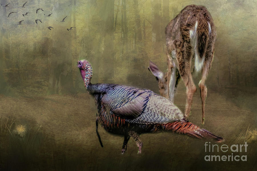 Turkey and Deer Hunters Dream by Peggy Franz