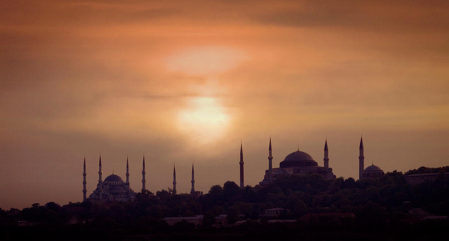 Turkey, Istanbul, Blue Mosque And Hagia Photograph by Daryl Benson