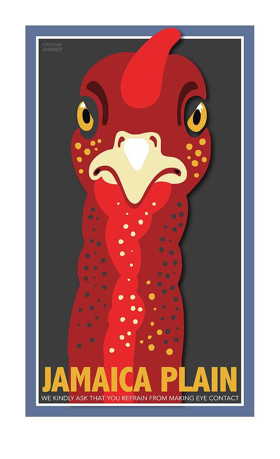 Brookline Digital Art - Turkey Stare Jp by Caroline Barnes