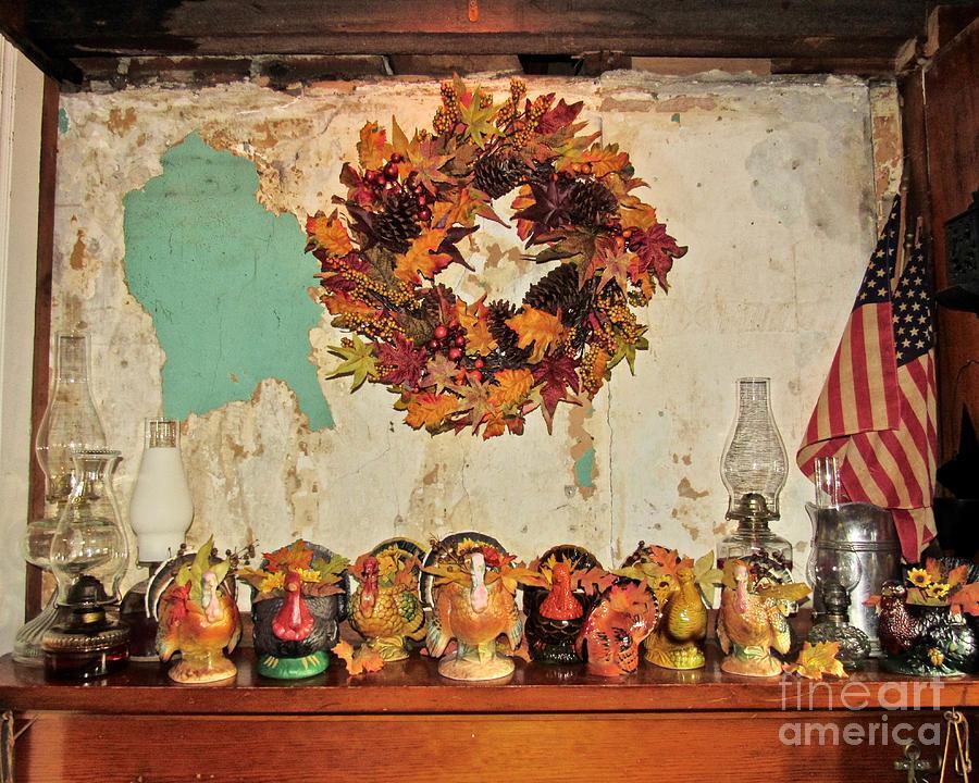 Turkeys on the Mantle  by Nancy Patterson