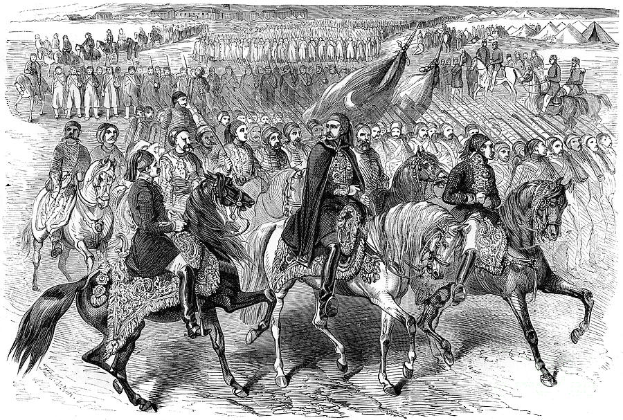 Turkish Troops On The March, Kamiesh Drawing by Print Collector