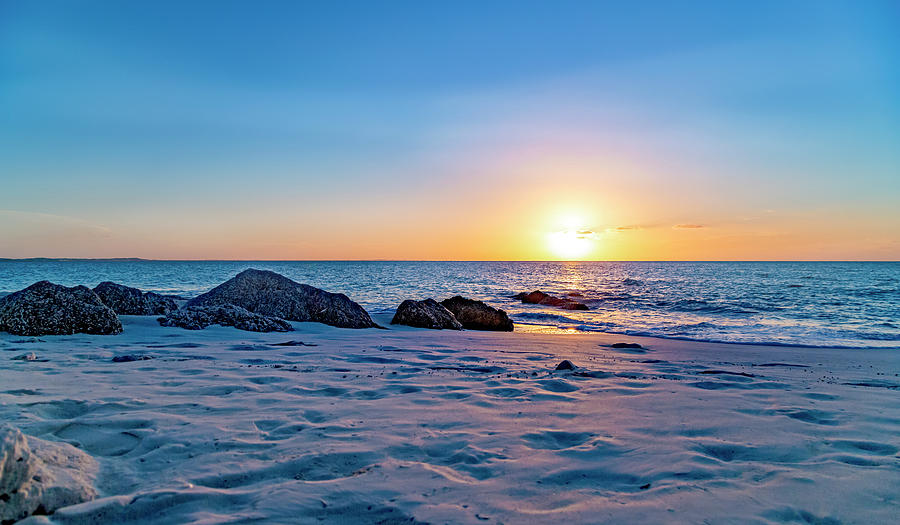 Beach Photograph - Turks And Caicos Tranquil Sunset by Betsy Knapp