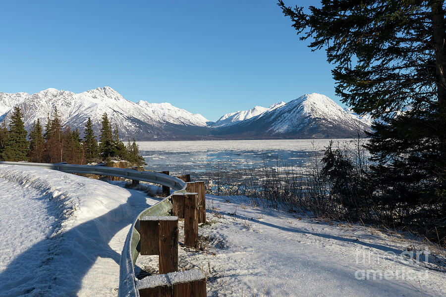 Turnagain Arm Photograph - Turnagain Arm And Chugach Range From Sunrise Alaska by Louise Heusinkveld