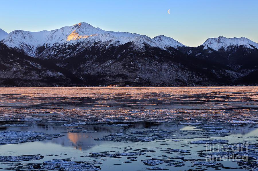 Turnagain Arm Photograph - Turnagain Arm At Dawn Alaska by Louise Heusinkveld