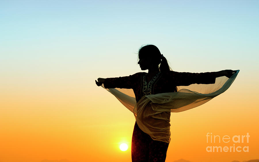 Indian Girl Photograph - Turning To The Sun by Tim Gainey
