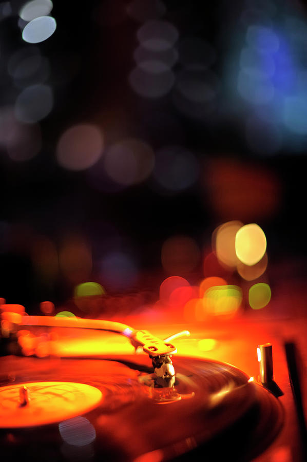 Turntable And Club Lights Photograph by Vilhelm Sjostrom
