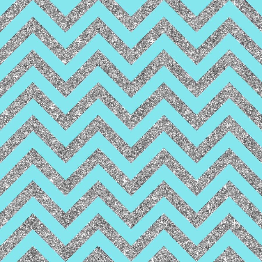 graphic regarding Printable Chevron Pattern identified as Turquoise Blue And Silver Chevron Zigzag Behavior