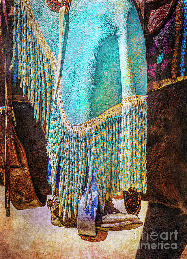 Turquoise Chaps and Fringe by Craig J Satterlee