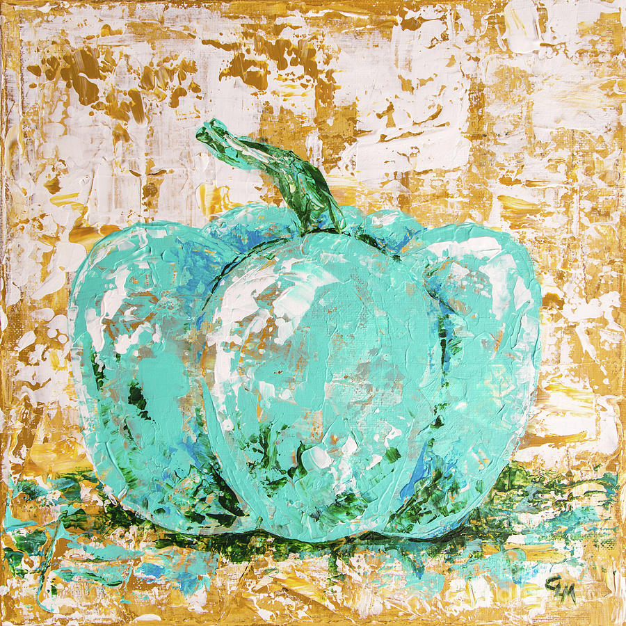 Turquoise Fall Pumpkin by Cheryl McClure