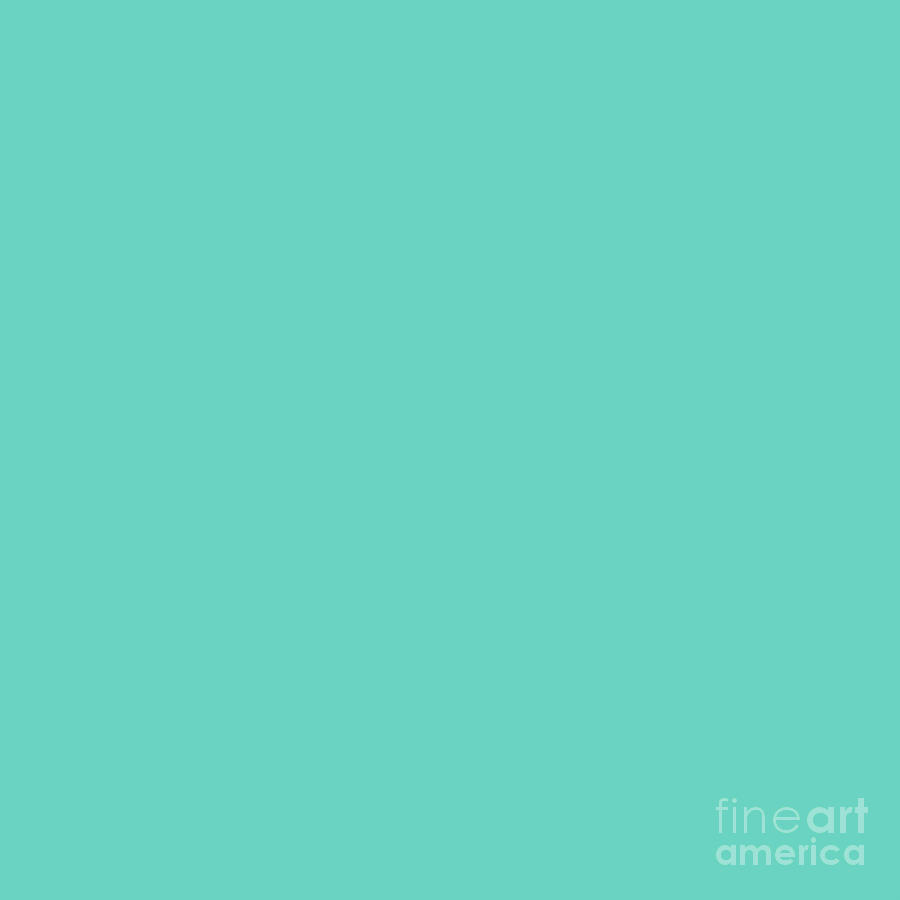 Complementary Digital Art - Turquoise Green by Cheryl McClure