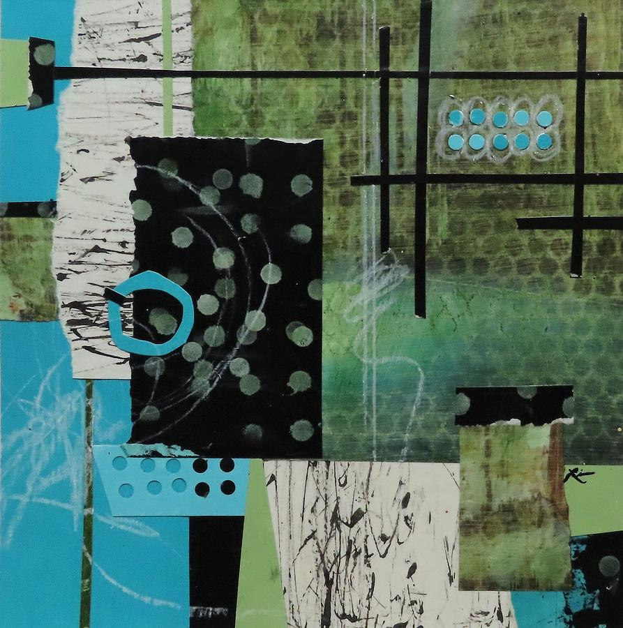 Collage Mixed Media - Turquoise Ringlet  by Laura Lein-Svencner