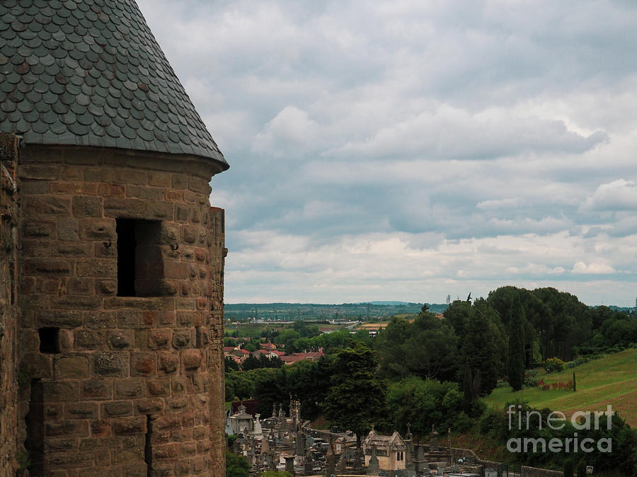 Turret and Cemetery of Carcassonne by Mary Capriole