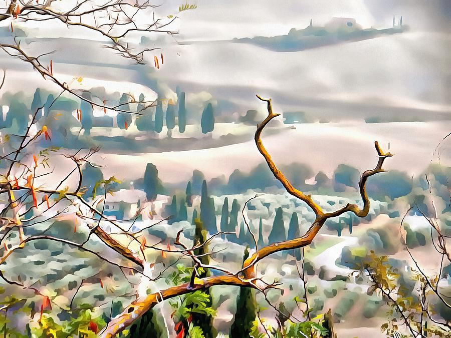 Tuscan Autumn Landscape by Dorothy Berry-Lound