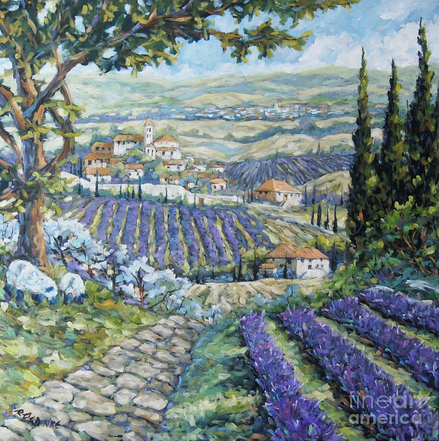 Tuscan Lavender Valleys by Prankearts by Richard T Pranke