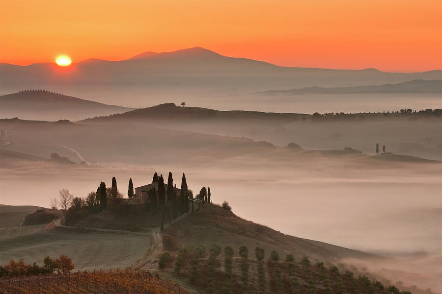 Tuscany At Morning Photograph by Paolo Corsetti