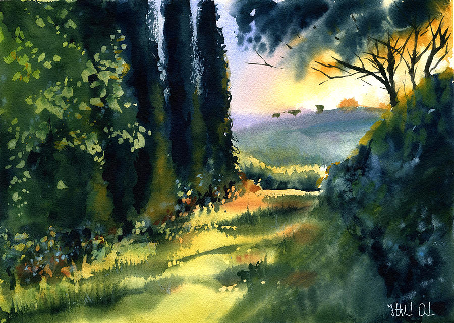 Tuscany Cypress Alley by Dora Hathazi Mendes