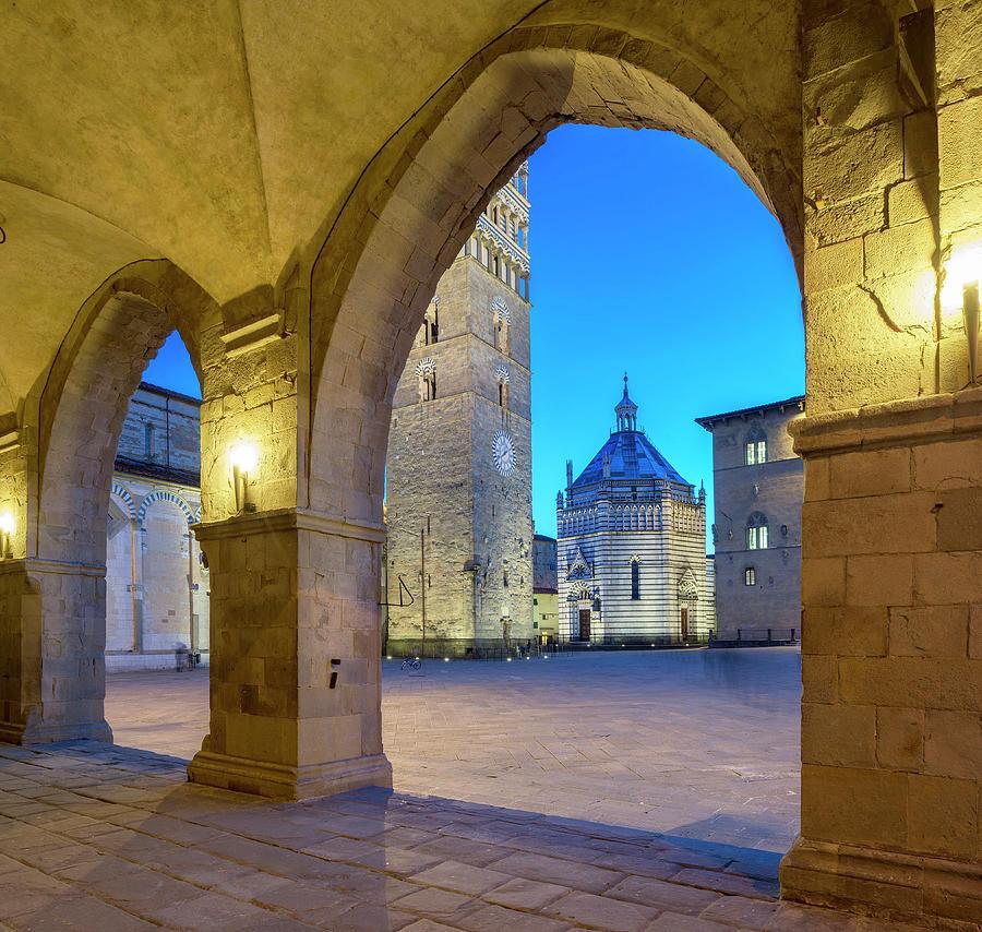 Tuscany, Pistoia, Piazza Duomo, Italy Digital Art by ...