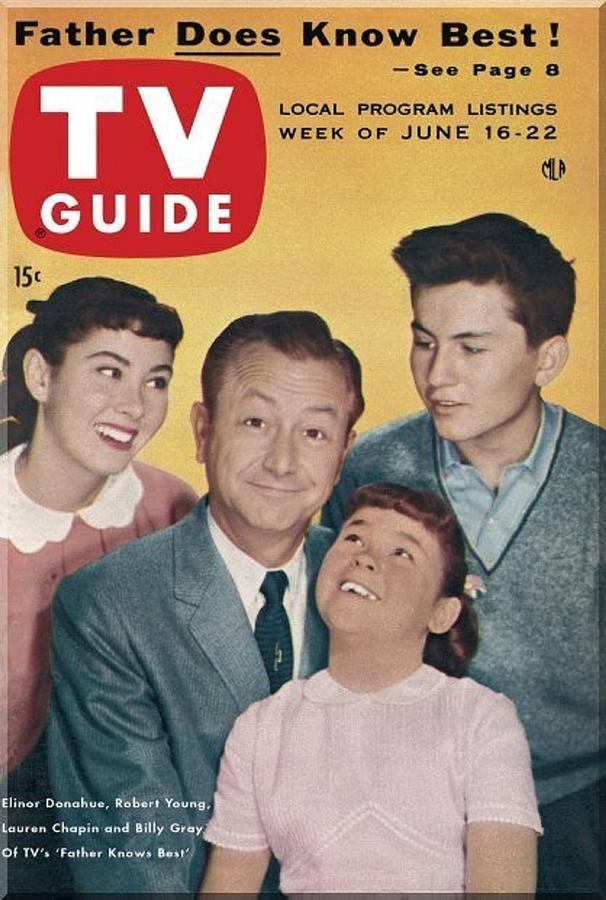 Tv Guide Father Knows Best June 1956 Photograph