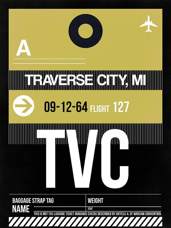 Vacation Digital Art - Tvc Traverse City Luggage Tag II by Naxart Studio