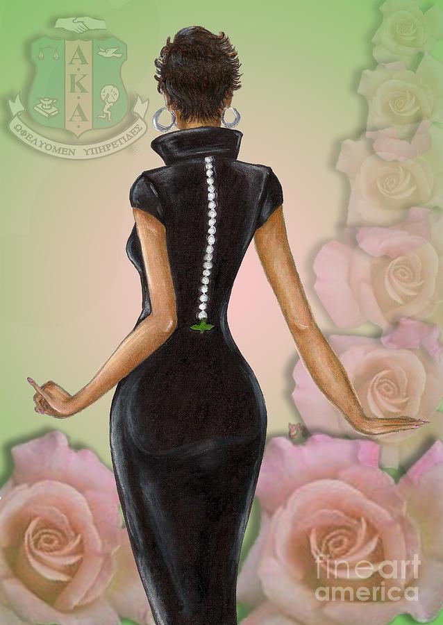 Founders Day Digital Art - Twenty Pearls N Pink Roses by BFly Designs