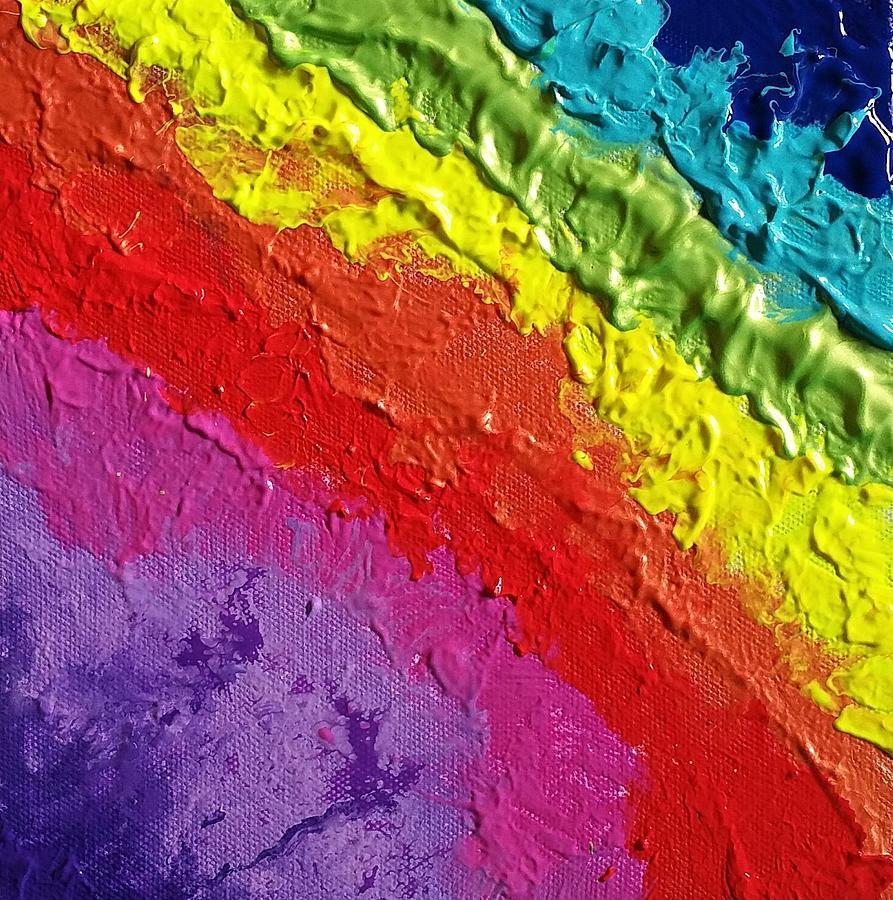 Acrylics Painting - Twinkling Rainbow by Paola Baroni
