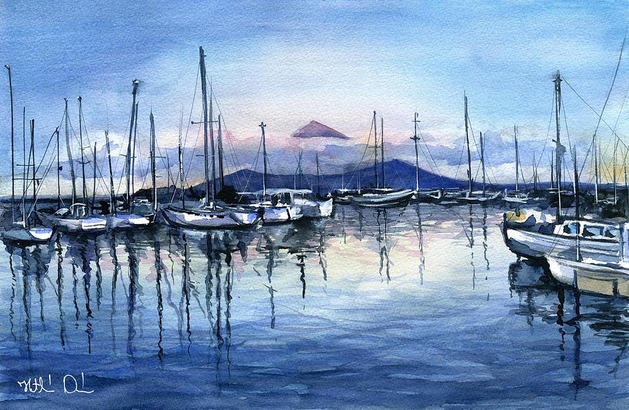 Twilight at Horta Azores by Dora Hathazi Mendes