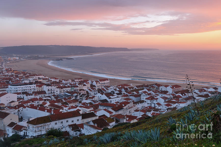 Twilight at Nazare Village by Angelo DeVal