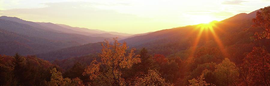 Horizontal Photograph - Twilight, Cumberland Gap, Kentucky, Usa by Panoramic Images
